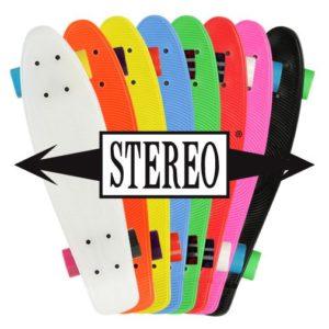 STEREO Plastic Cruiser, kaasa päikseprillid, võtmehoidja ja kleepsud - erinevad värvid-0