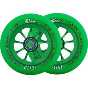 110mm River Glide Emerald rohelised rattad - 2tk komp-0