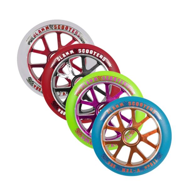 SUPERHIND!! OSTA ÜLIHEA HINNAGA TAGAVARARATTAD!! 110mm Slamm Alu Core tõukeratta ratas -erinevad värvid-0